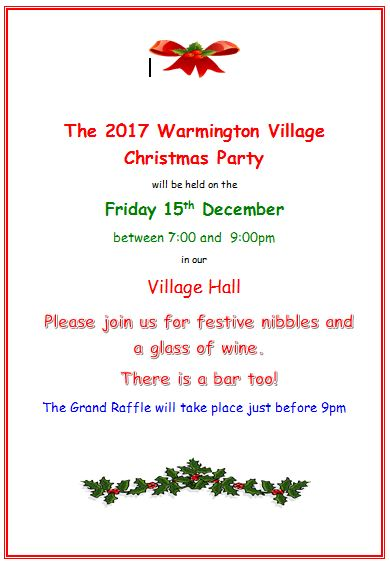 2017 Warmington Village Christmas party
