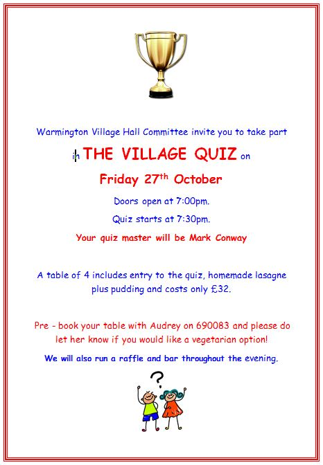 Quiznight Oct 2017